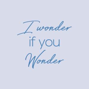 i wonder if you wonder