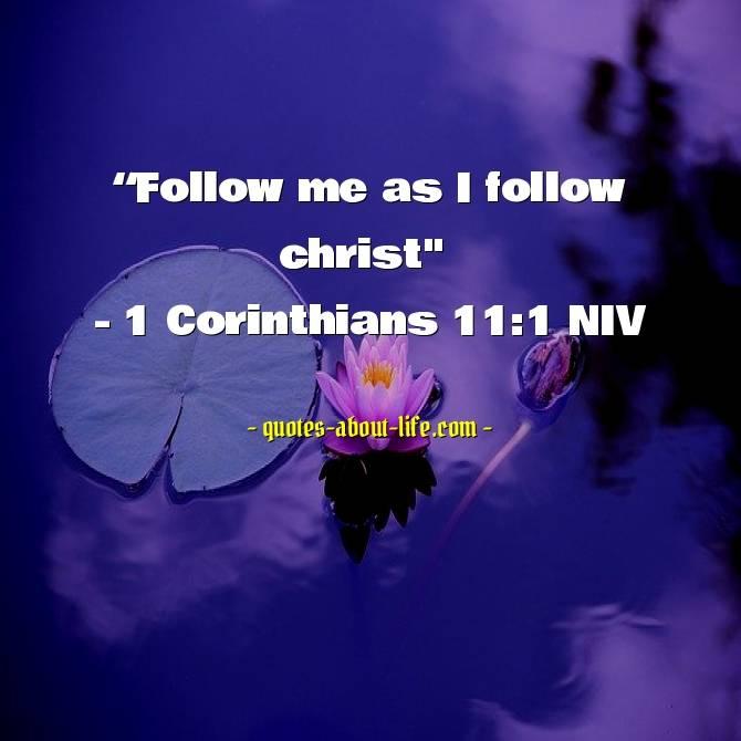 Follow me as I follow Christ |Best Bible Quotes