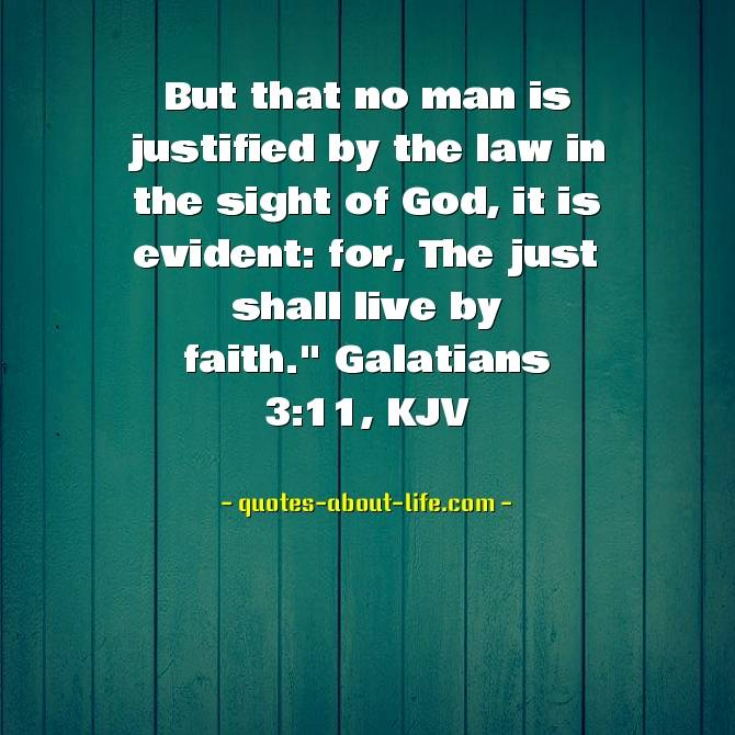 The just shall live by faith | Best Bible Quotes