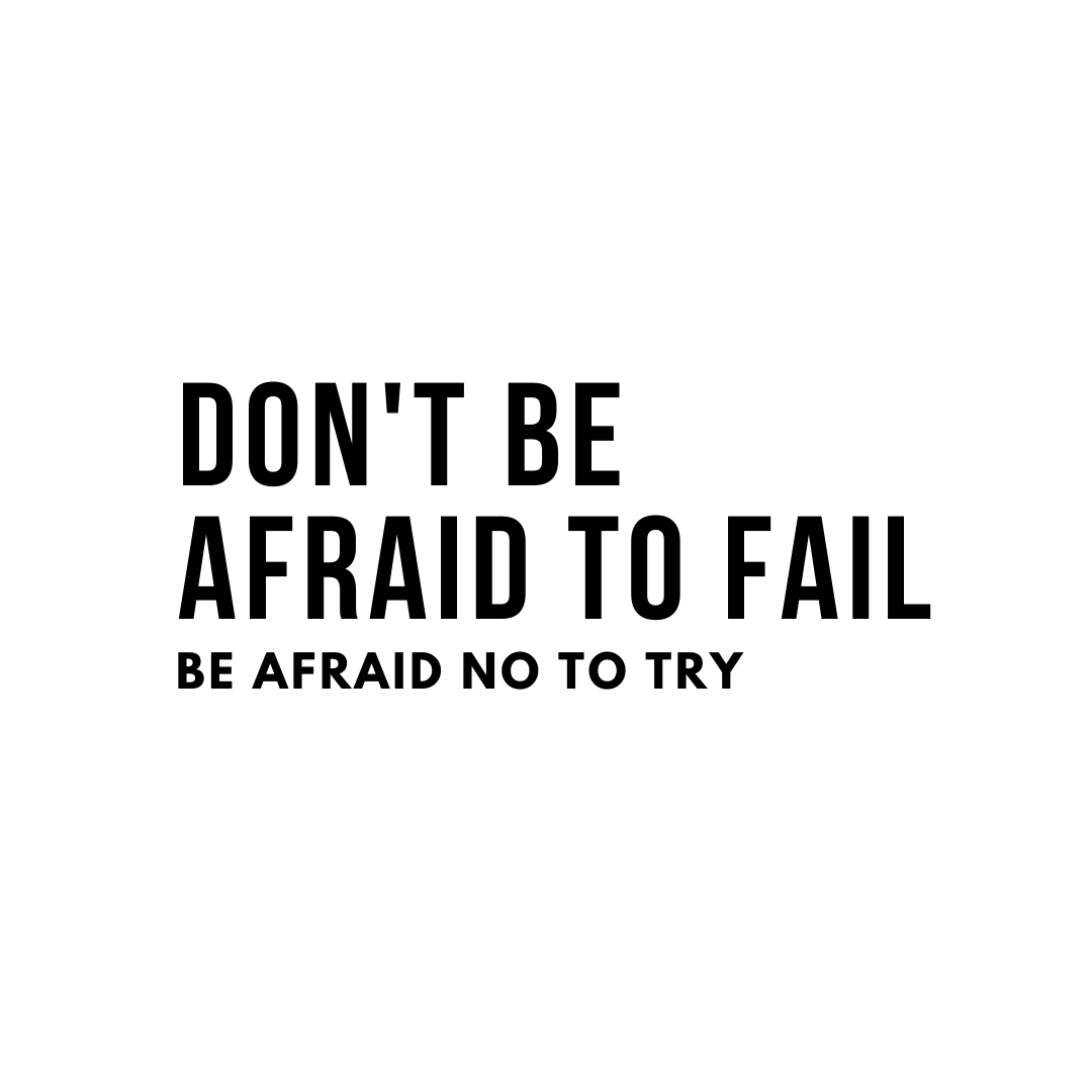 """Michael Jordan Quote: """"Don't be afraid to fail. Be afraid not to try."""