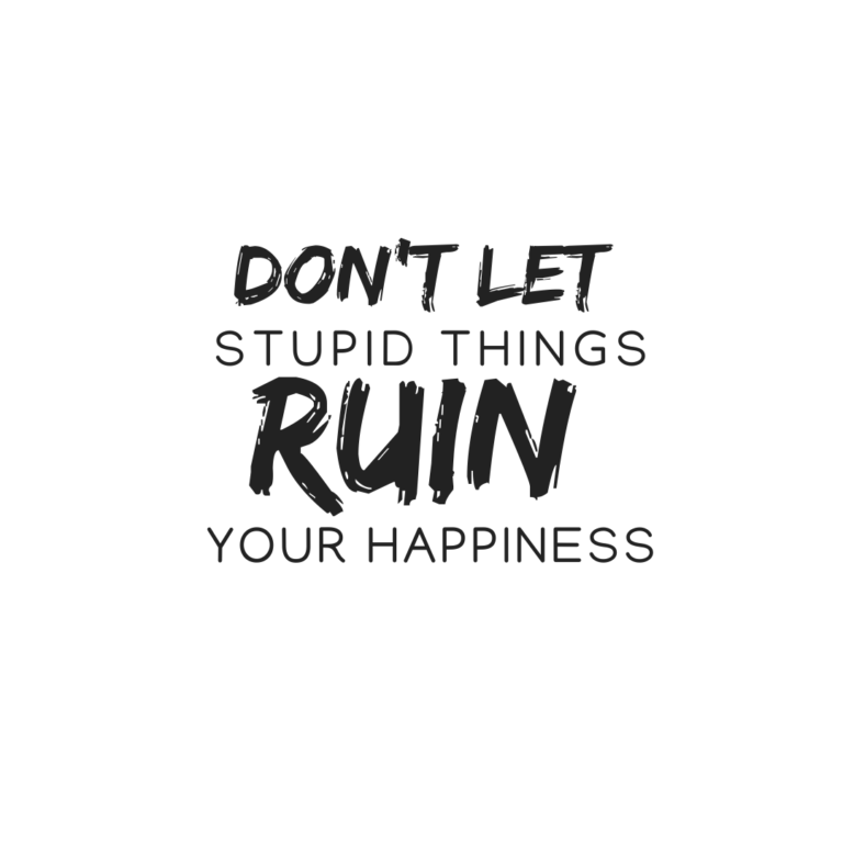 Don't let stupid things break your happiness quotes