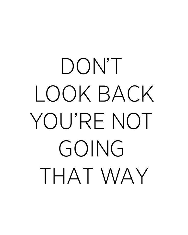 Don't Look Back You are not Going That Way | Keep Going Quotes