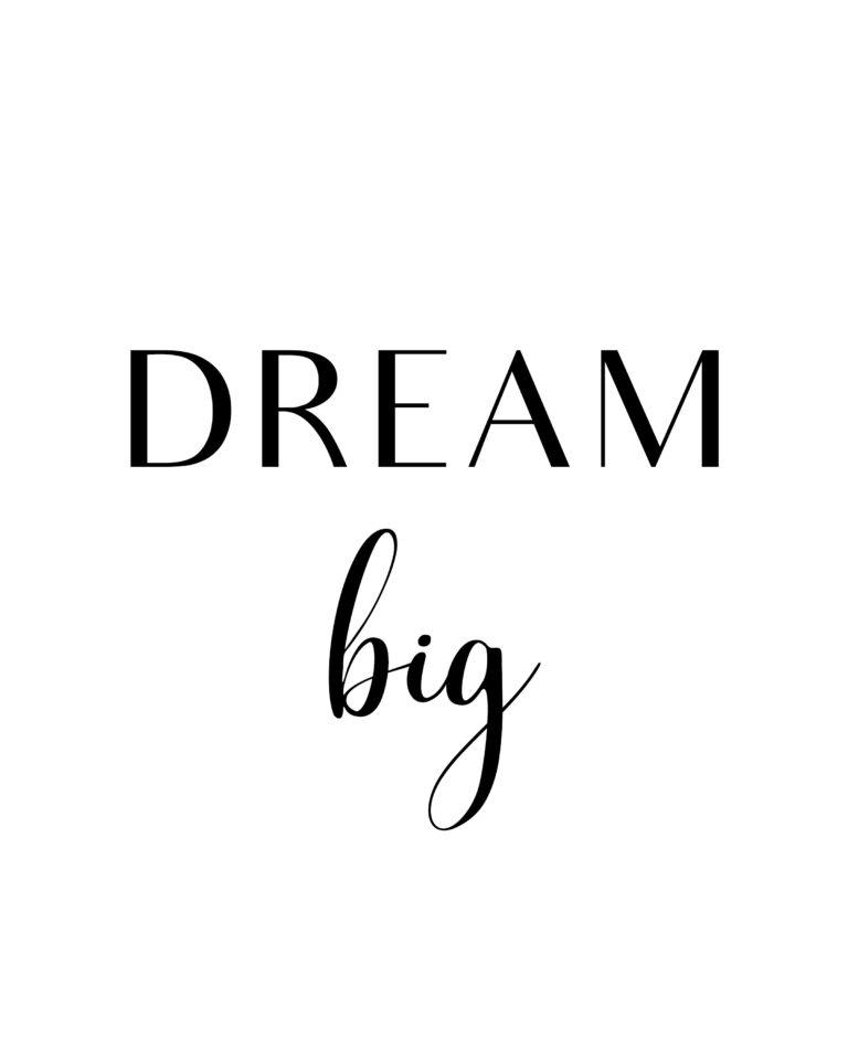 320+ (BEST) Inspirational Dream Big Quotes | Aim High Dream Big Quotes