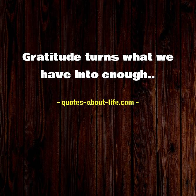 Gratitude turns what we have into enough | Melody Beattie Quotes