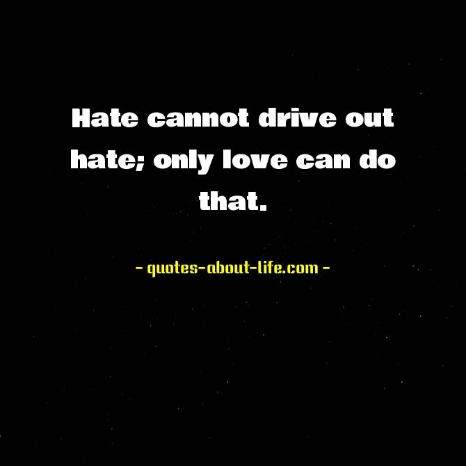 Hate cannot drive out hate; only love can do that | Martin Luther King Jr Quotes