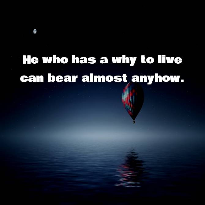 He who has a why to live can bear almost anyhow | Friedrich Nietzsche Quotes
