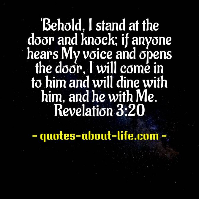 I stand at the door and knock | Best Bible Quotes