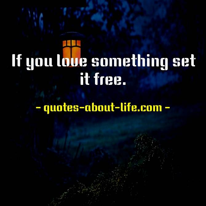 If you love something set it free Richard Bach Quotes