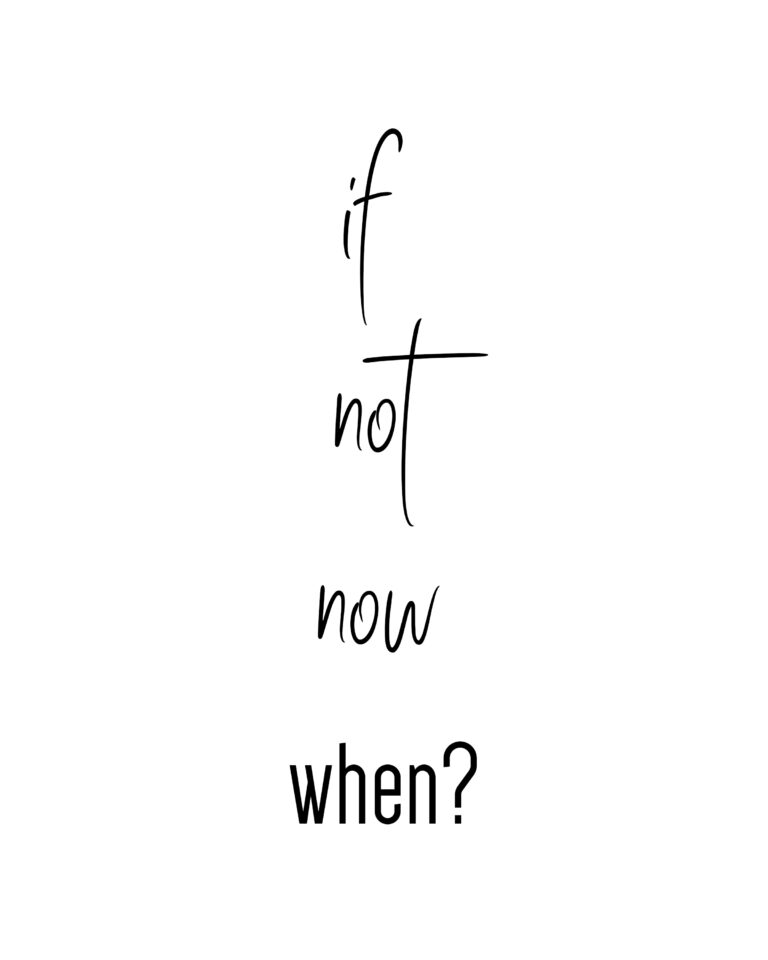If not Now When? | Do it Now Quotes