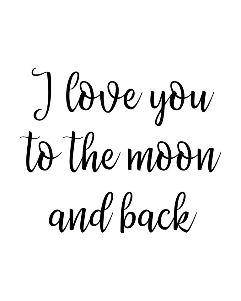 I love you to the moon and back  | Love Quotes