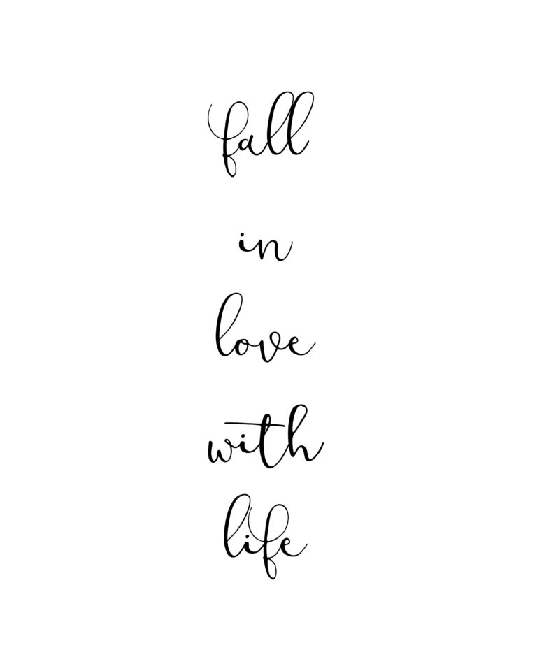 Fall in Love With Life | Best Life & Love Quotes