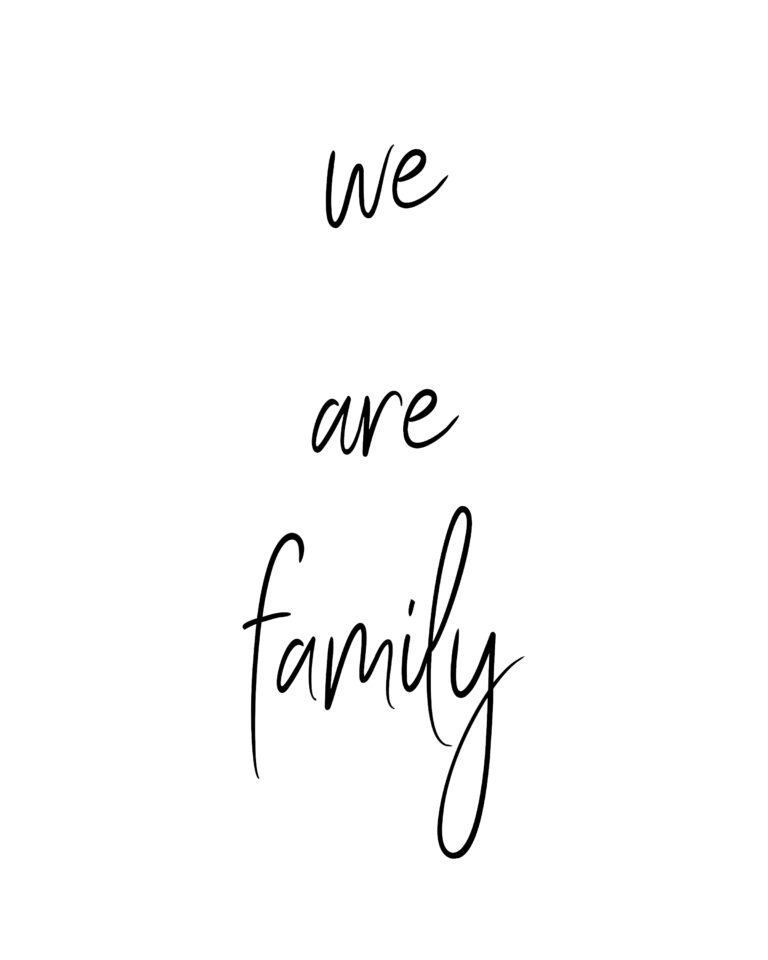 We are Family | Family Quotes