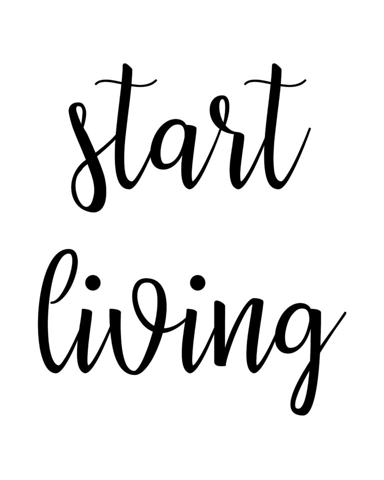 Start Living Quotes