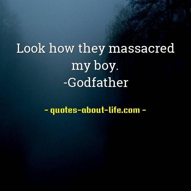Look how they massacred my boy