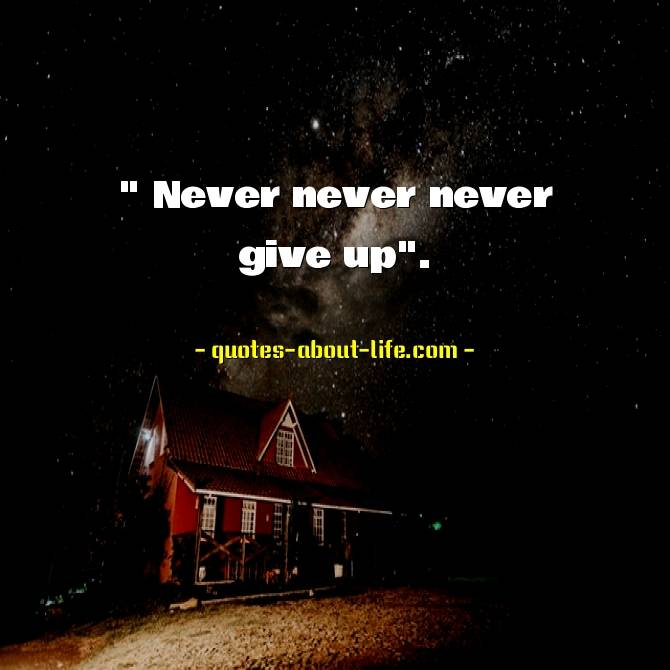Never never never give up| Winston Churchill Quotes