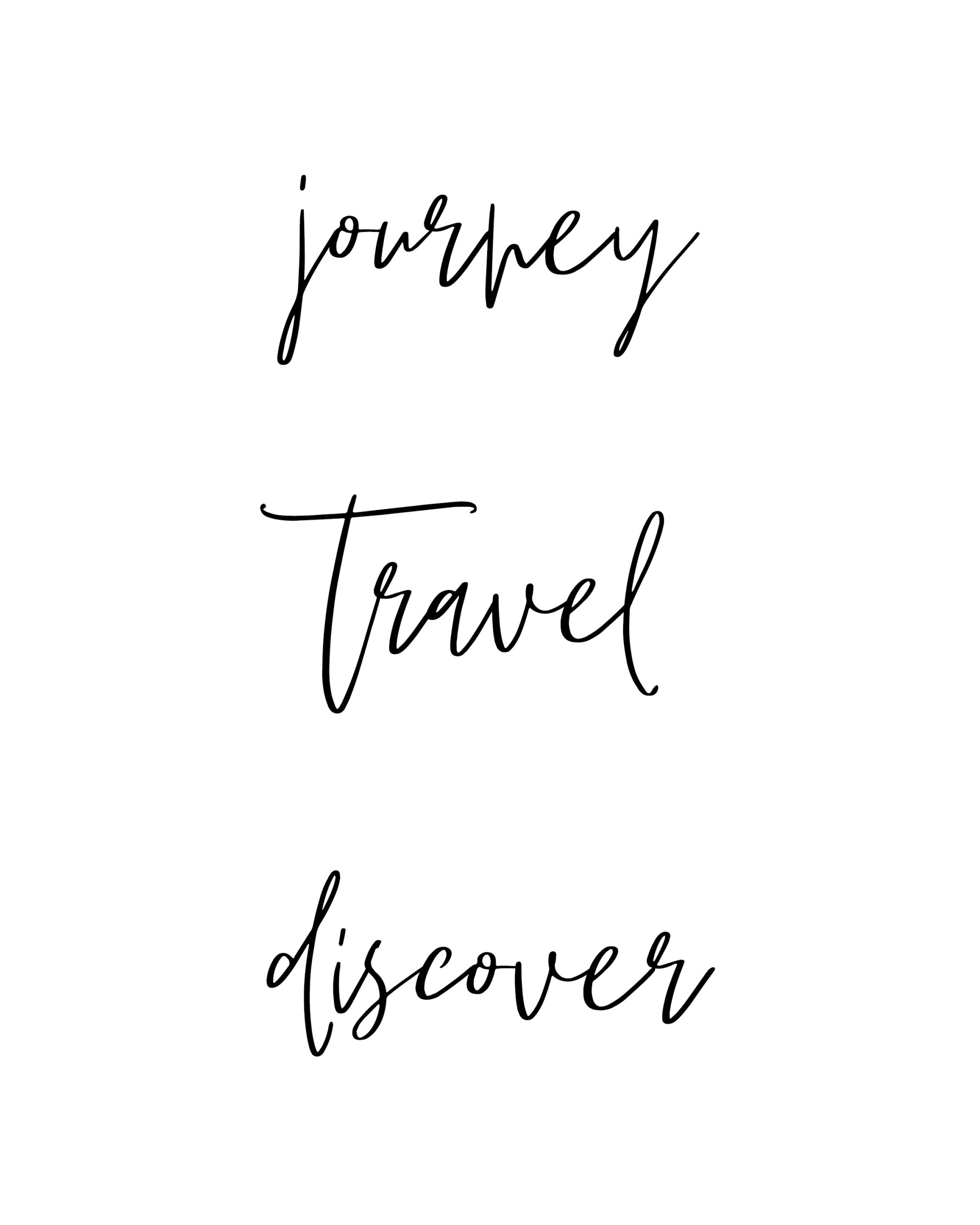 Journey travel discover